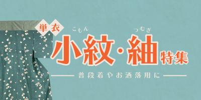 単衣・小紋紬特集